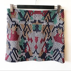MNG XS BNWT Aztec Woven Textured Mini Skirt